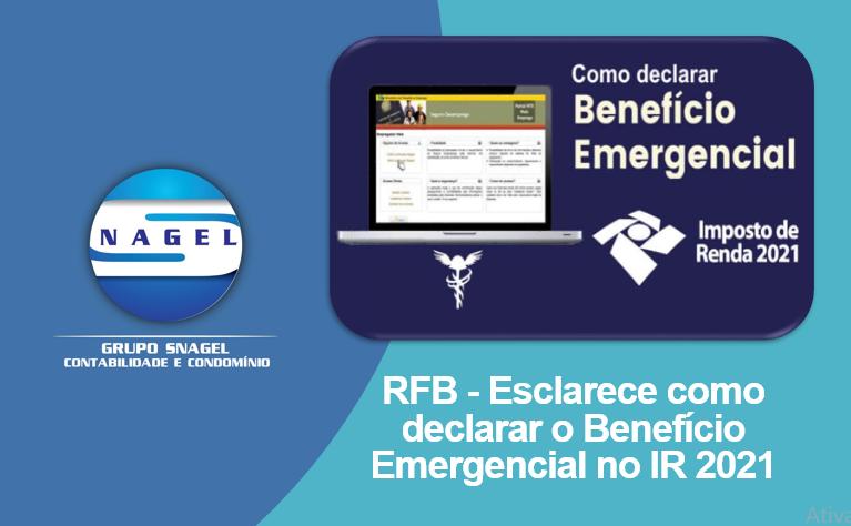 RFB Esclarece Como Declarar O Benefício Emergencial No Imposto De Renda 2021