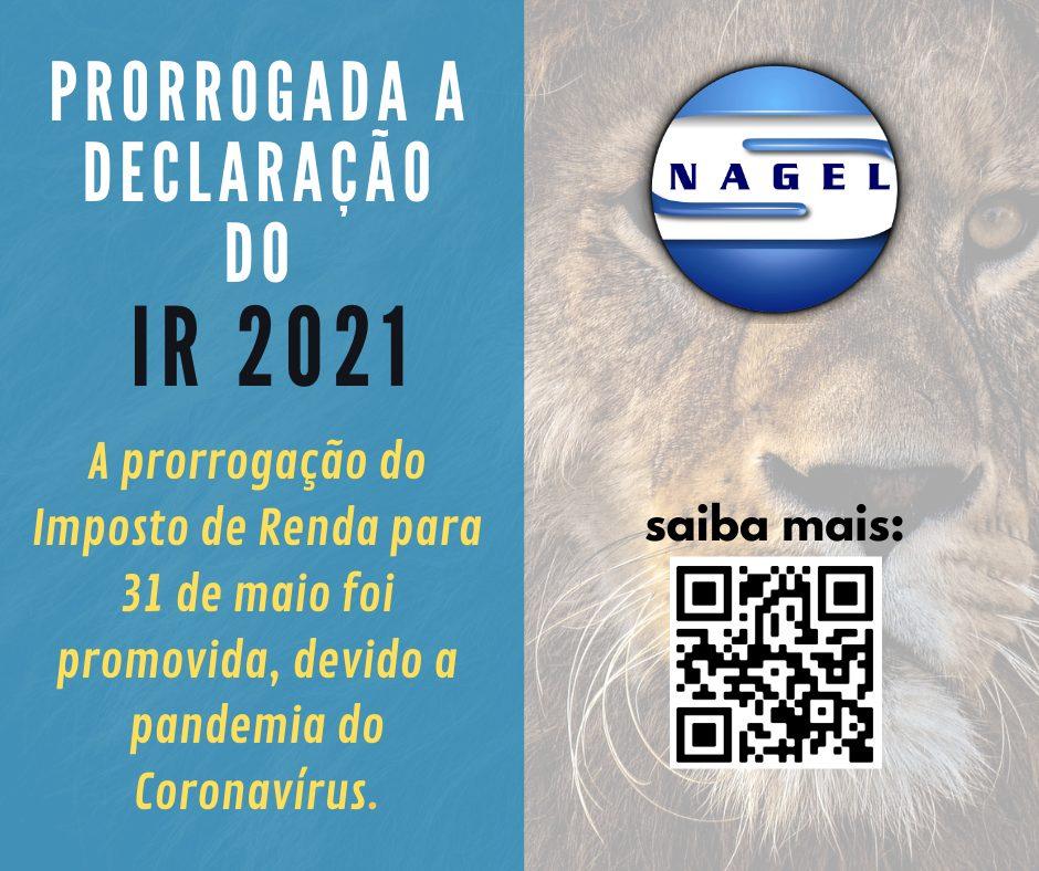 PRORROGADA A DECLARAÇÃO DE IRPF 2021