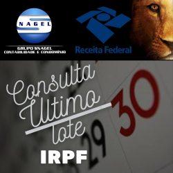 IRPF 2021 – RESTITUIÇÃO ULTIMO LOTE